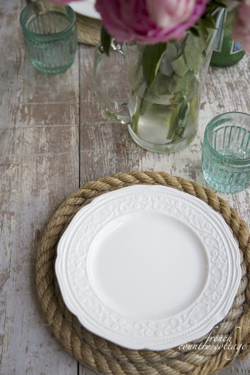 They have the most gorgeous sea glass color for using with a nautical Summer inspired table