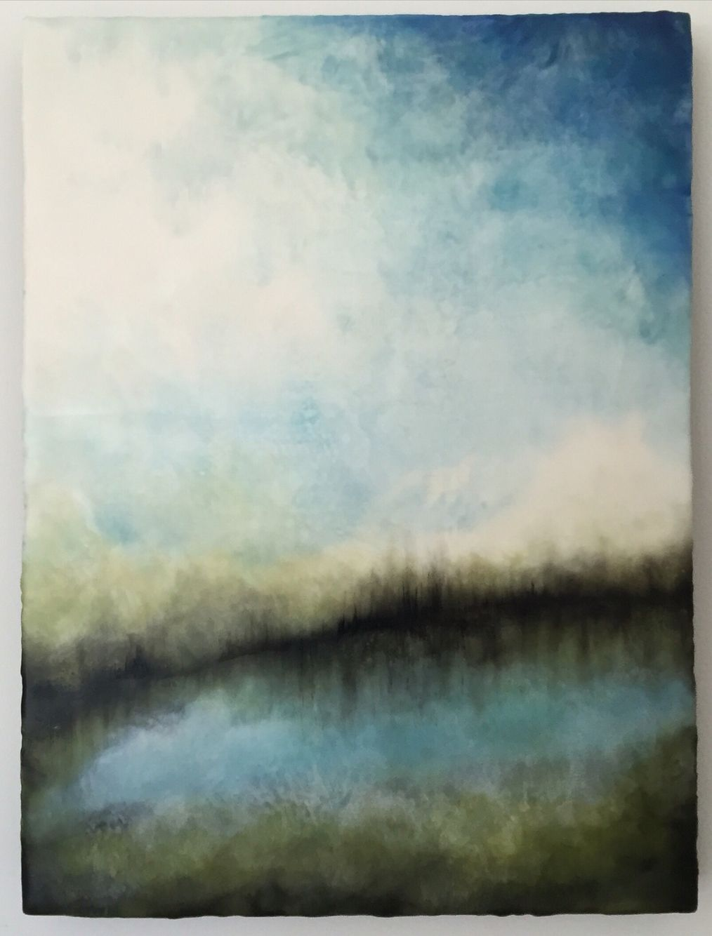 The Working Mother Original Encaustic Diptych 2 6x6 panels