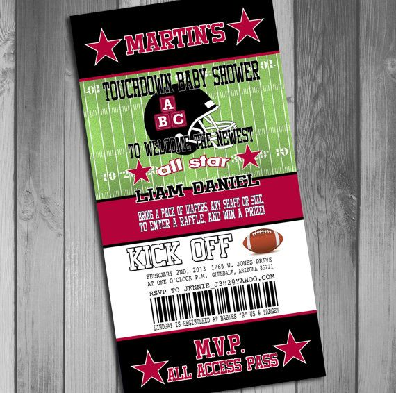 65bcefc7 Arizona Cardinals Inspired Football Baby Shower by CLaceyDesign ...