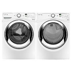 Whirlpool 4.3 cu. ft. Duet® Front-Load Steam Washer & Dryer Bundle - White