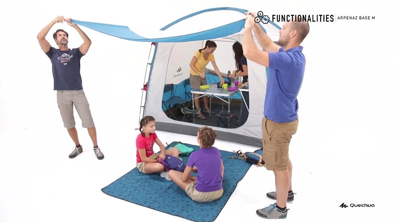Carpa Plegable Habitaculo Camping Quechua Arpenaz Base M 6 Personas Upf30 Camping Shelters Family Tent Tent