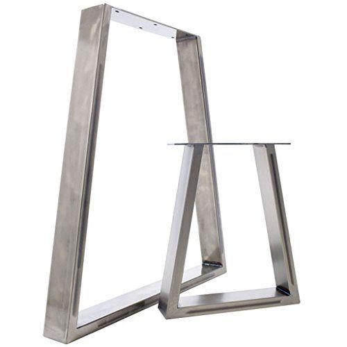 The Trapezium Design   2 X Steel Table / Desk / Bench Pedestal Legs