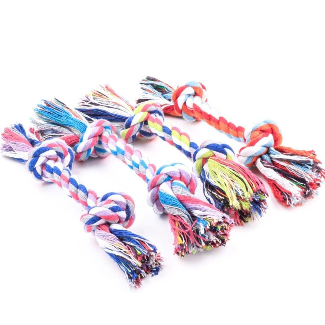 Toy Puppy Play Cotton Dog Tough Chew Tug Fun Pet With New Rope Knot Strong War