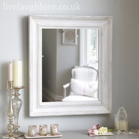 Shabby Chic Wall Mirror large rectangle mirror-antique white | bedroom | pinterest