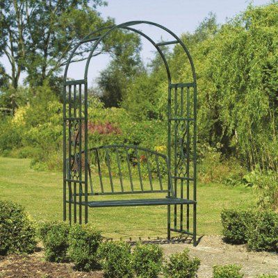 Arbors And Trellises Kensington Metal Arch Arbor With