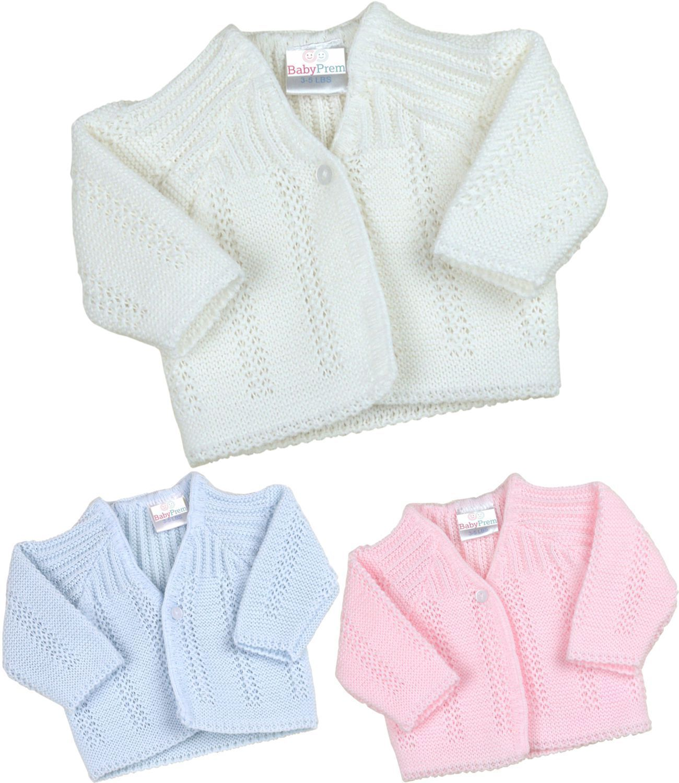 Premature preemie Baby Boy//girl Tiny Cardigan White Blue Pink 3-5lbs 5-8lbs