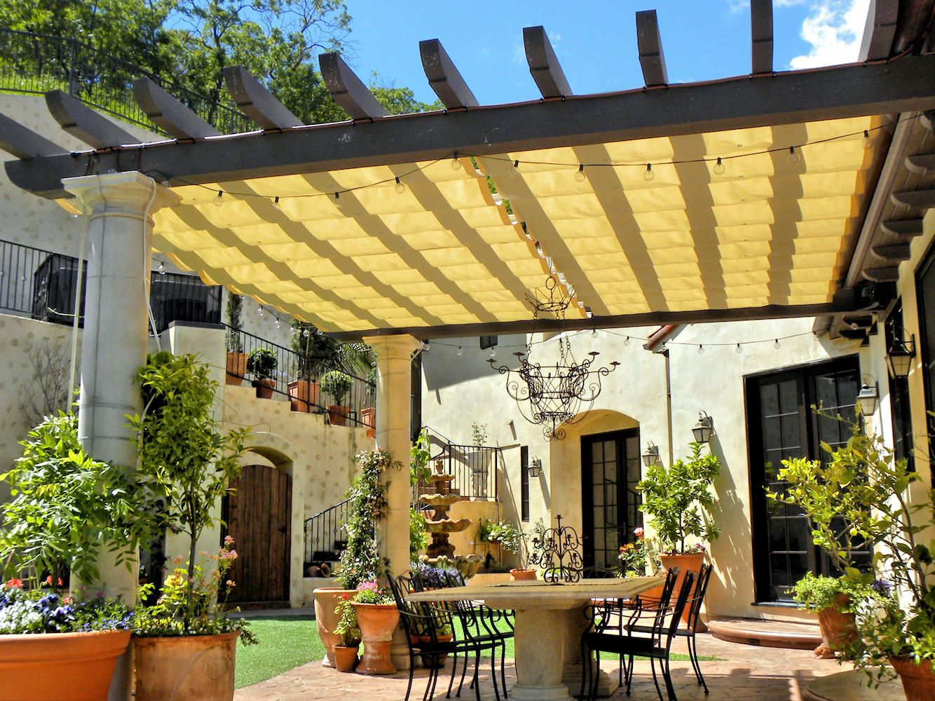 Browse Residential Shade Awnings patio covers cabanas and carports by Superior Awning are highly cost-effective tools to protect your family and ... & Slide Wire Cable Awnings | Superior Awning - Part 2 | Canopies ...