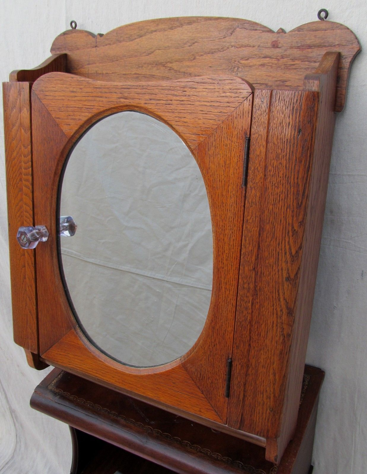 FINE ANTIQUE OAK MEDICINE CABINET WITH TOWEL BAR-EXCELLENT PIECE WITH  QUALITY! | eBay - Fine Victorian Oak Medicine Cabinet With Towel Bar Medicine