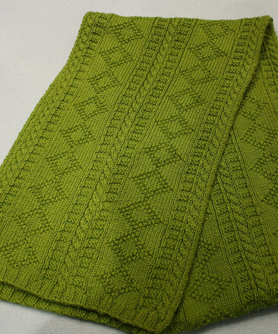 Free knitting pattern for karins gansey scarf this scarf free knitting pattern for karins gansey scarf this scarf features diamond motifs and other textured bankloansurffo Choice Image
