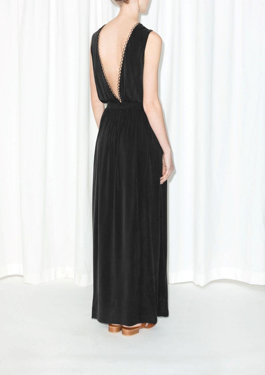 Other Stories Cupro Maxi Dress Black Dresses Backless Dress Formal Black Maxi Dress
