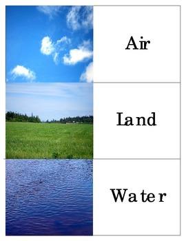Air-Land-Water Transportation: Montessori Three Part Cards