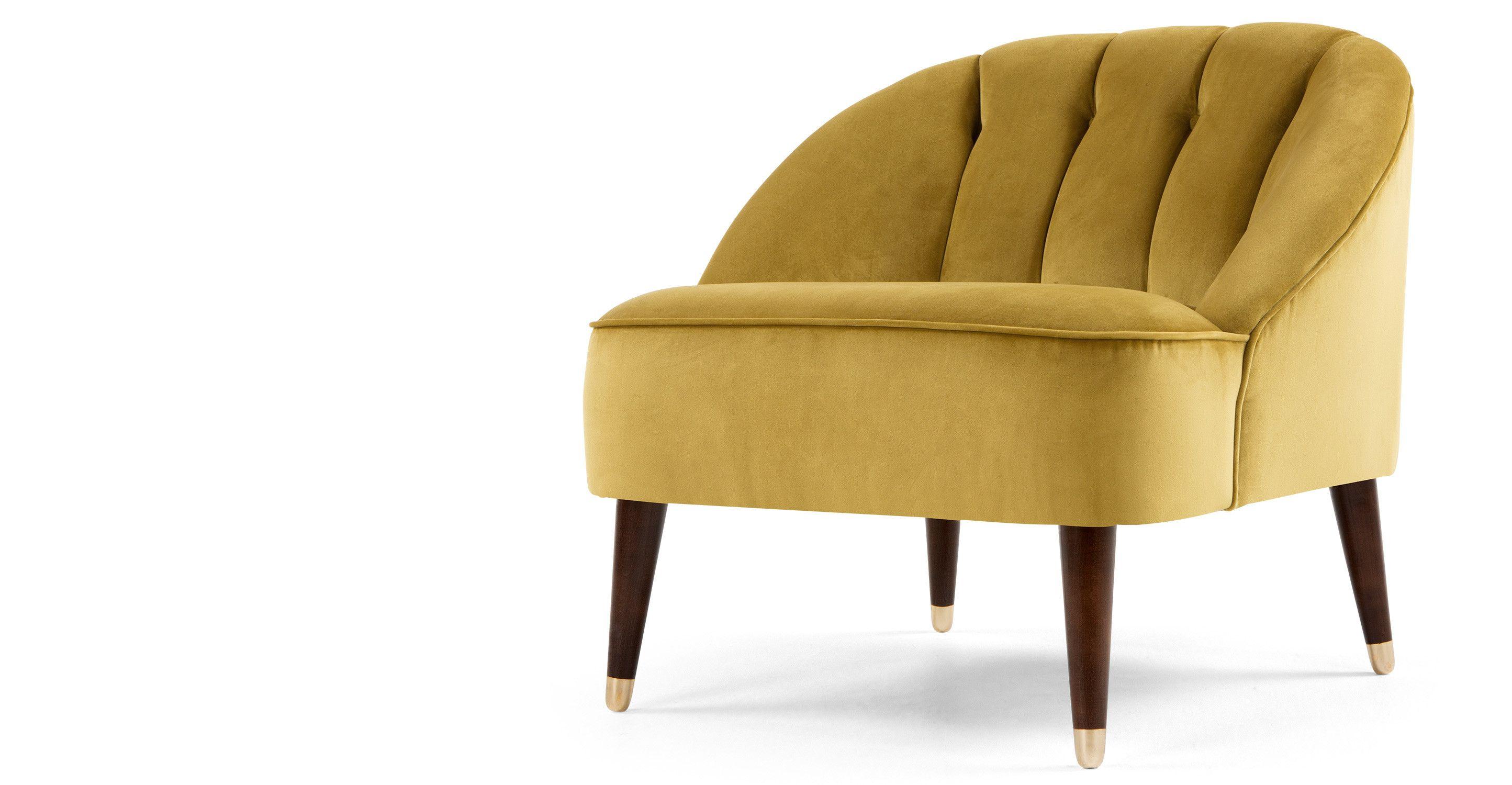 Margot fauteuil antiekgoud fluweel made Home