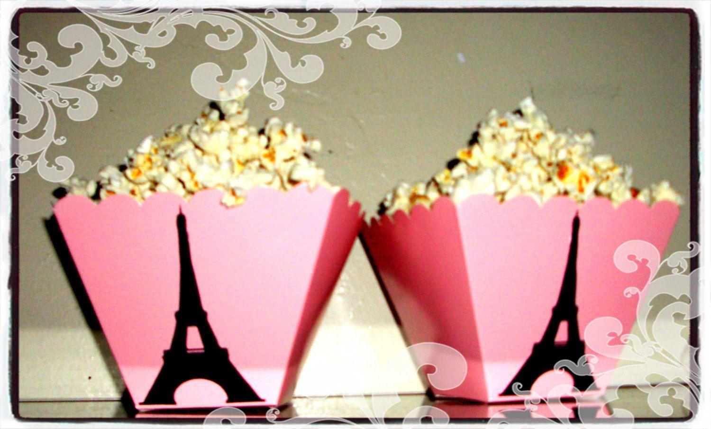 Paris Party,Eiffel Tower (24) Treat Boxes, Paris Decoration ...