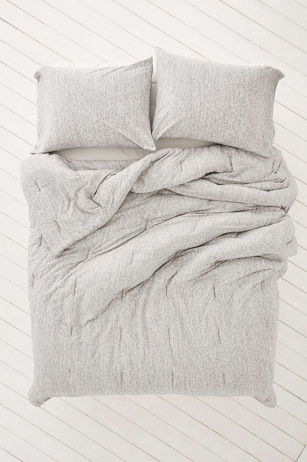 A Deliciously Cozy Mattress Jersey Comforter Embroidered Duvet Cover Comforters