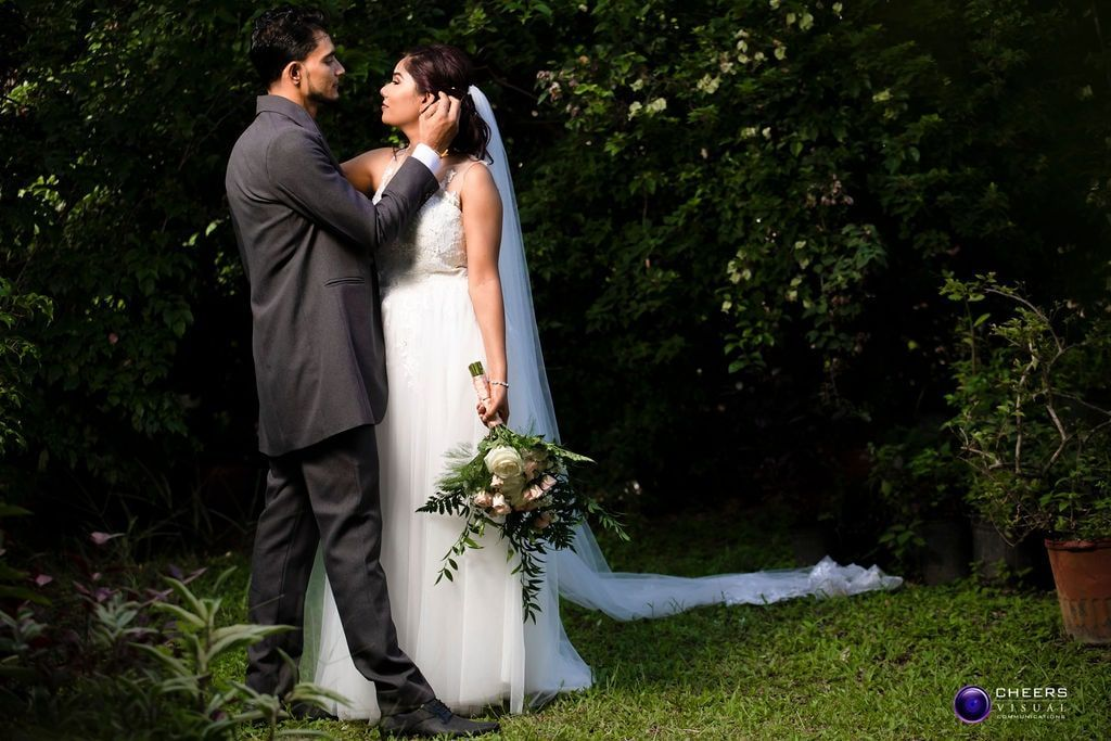 Rianne Heera S Sweet Outdoor Wedding In Trinidad Tobago Wedding Gown Styles Gorgeous Bride Outdoor Wedding