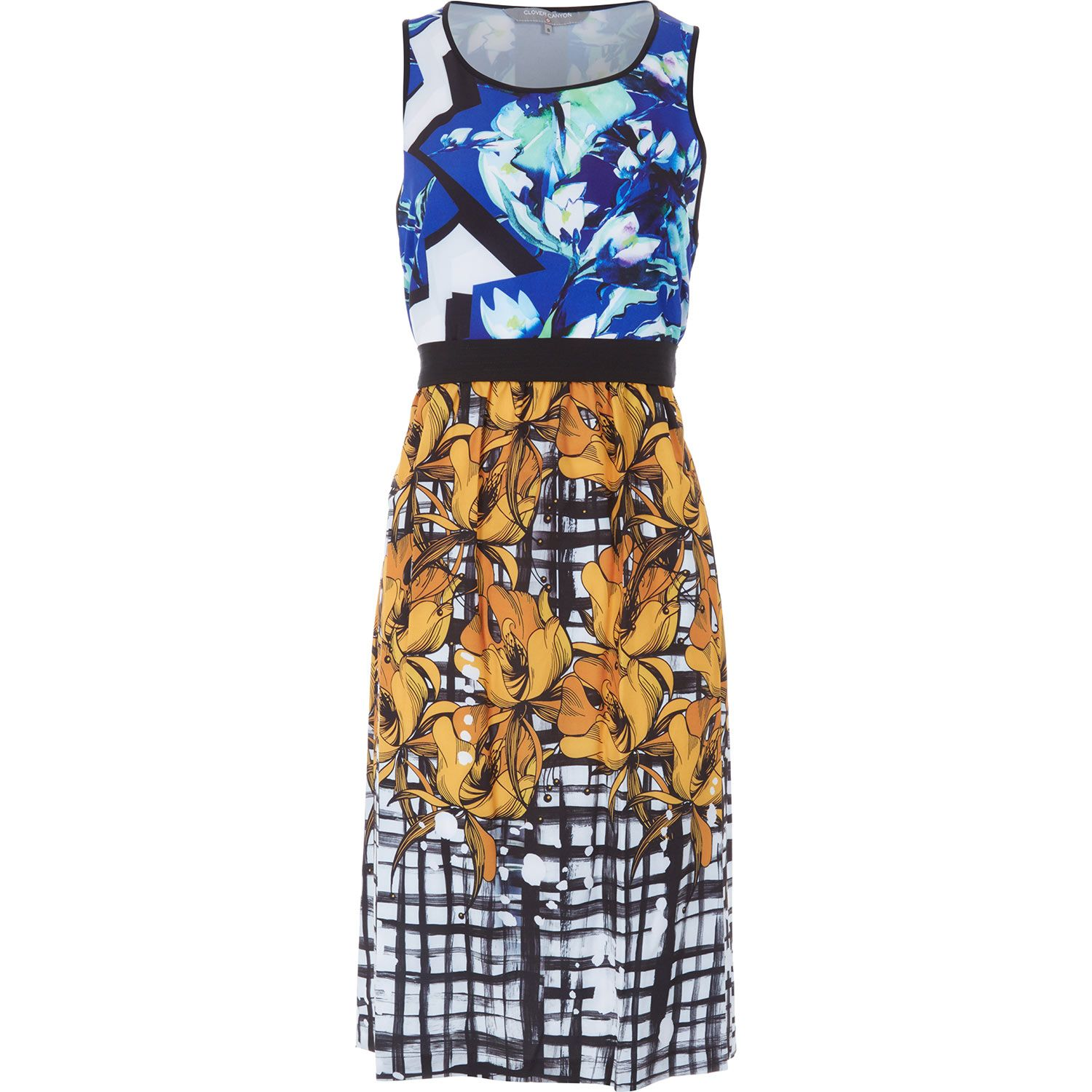 Clover Canyon Multi Printed Cut Out Dress