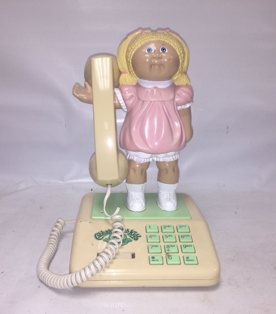Vintage Cabbage Patch Kids Phone 1984 Coleco Novelty Telephone Cpk Cabbage Patch Kids Patch Kids Phone