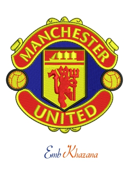Manchester United Logo Embroidery Design In 2020 Embroidery Logo Machine Embroidery Logo Manchester United Logo