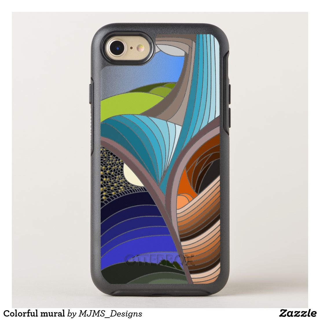 Colorful mural otterbox iphone case iphone