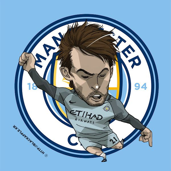 Manchester City No.21 David Silva Fan Art