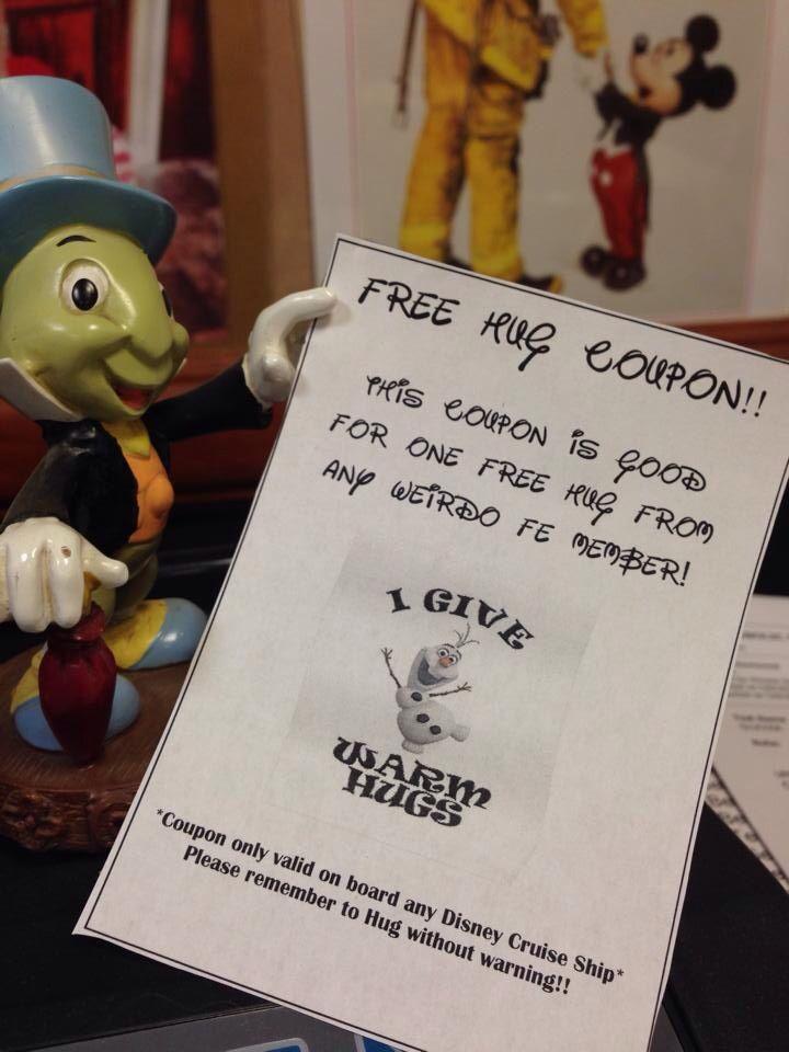 Olaf hug coupon