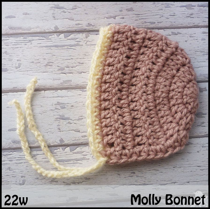Jesss recommended preemie hats many patterns on this site mamma that makes molly bonnet free crochet pattern around 22 weeks gestation link correct and pattern is free when i checked on march 2015 usa bankloansurffo Image collections