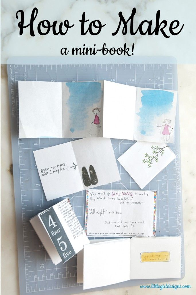 How To Make A Mini Book Out Of One Sheet Of Paper Writing And