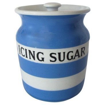 Check out this item at One Kings Lane! English Cornishware Icing Sugar Canister