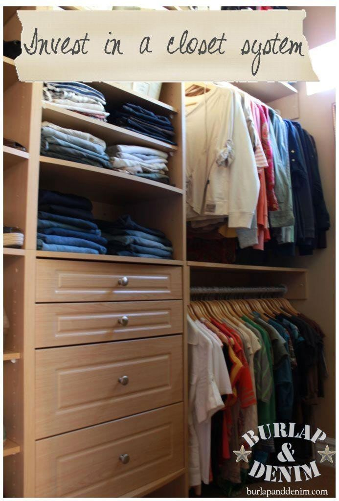 From Blah to Boutique {Organizing a Master Closet}Burlap and Denim