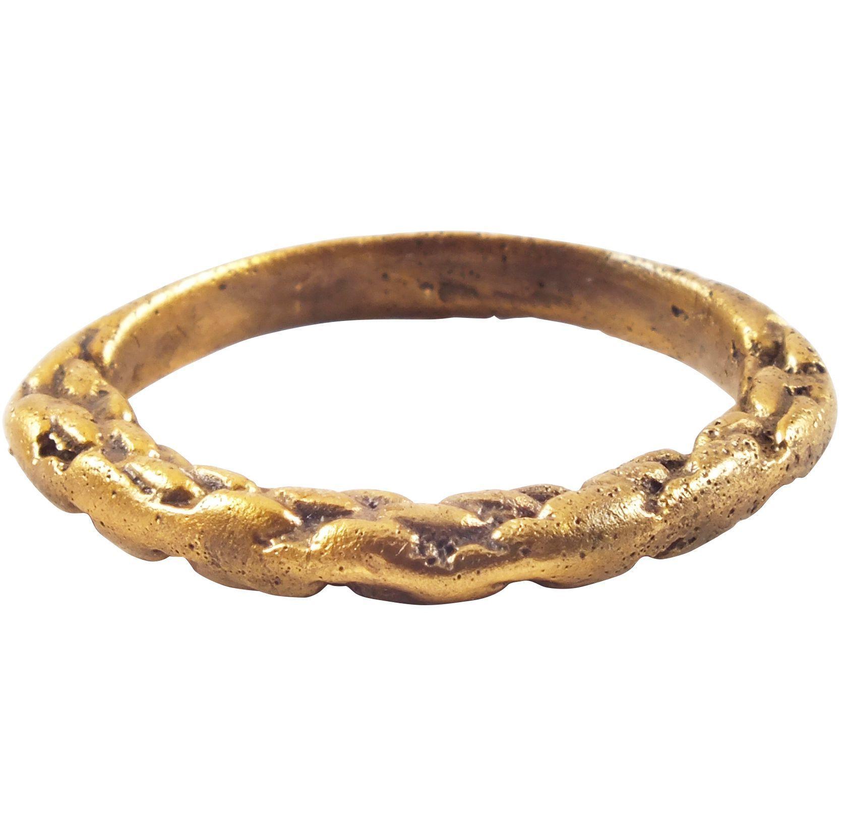 VIKING TWISTED MOTIF RING 8501050 AD Viking wedding