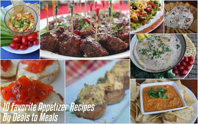 Favorite 10 {Simple} Appetizer Recipes for New Year's! by Deals to Meals
