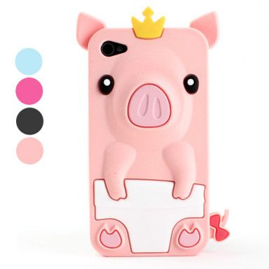 Cute Pig Style Protective Silicone Case for iPhone 4/ 4S [BBE-PigCase] - $3.99 : Bigbigeye