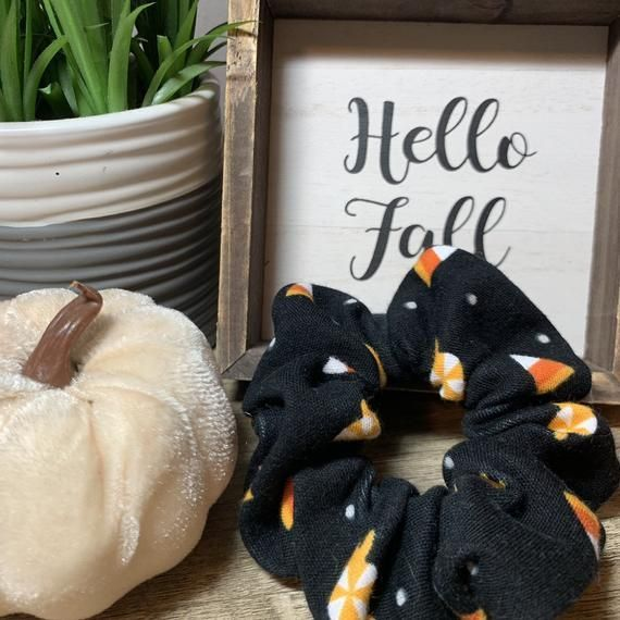 Candy glow Scrunchies - Fall - 90s Fashion - October - Messy Bun - Top Knot - Gifts for Her -... #topknotbunhowto