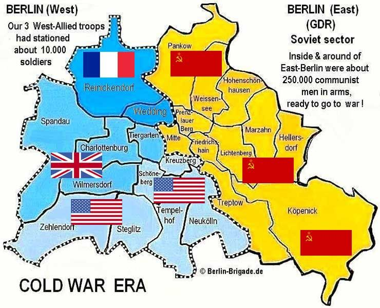 Detailed Berlin Repinned By Wwwgoraracom Social - Berlin map east west