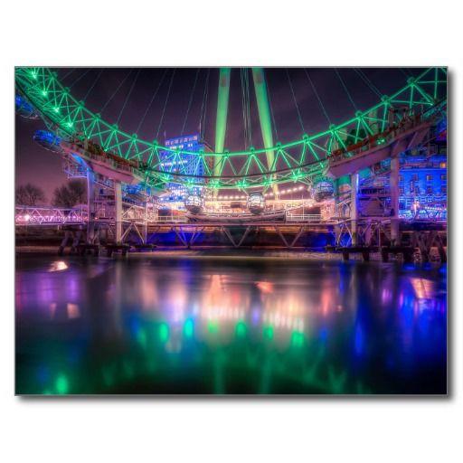 London Eye reflections Postcards