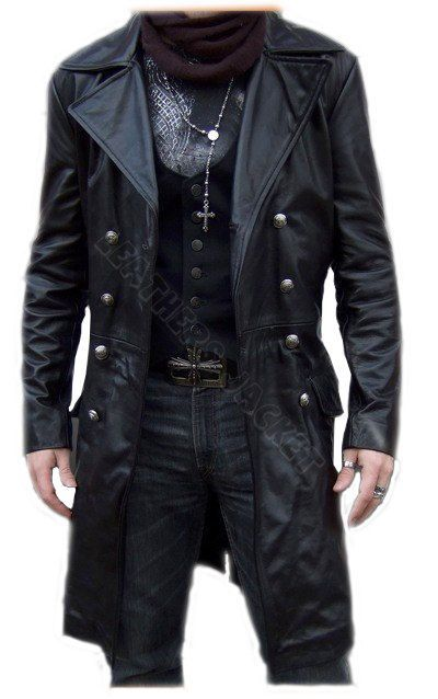 Black biker leather coat | Men's Style | Pinterest | Biker leather ...