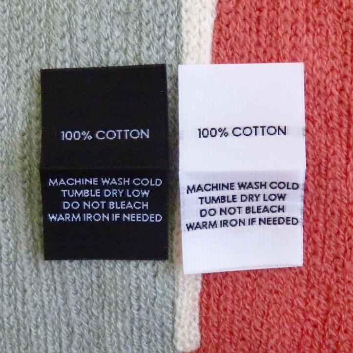 100/% WOOL DRY CLEAN ONLY 100 PCS BLACK WOVEN CLOTHING SEWING CARE LABEL TAGS