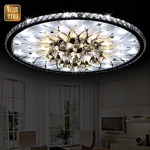 Fsd runde wohnzimmer led kristall deckenleuchte moderne for Runde lampe
