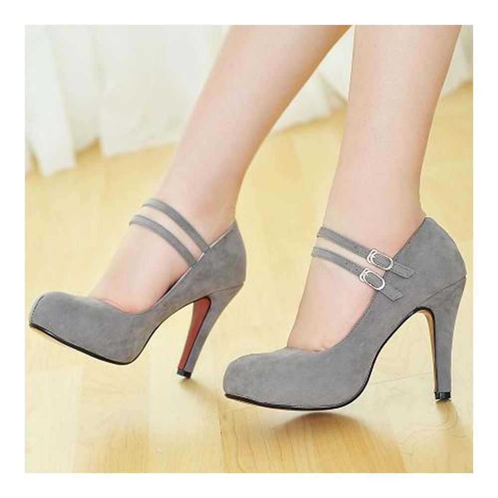 Bridal Wedding Thin Shoes grey Heels, High heels