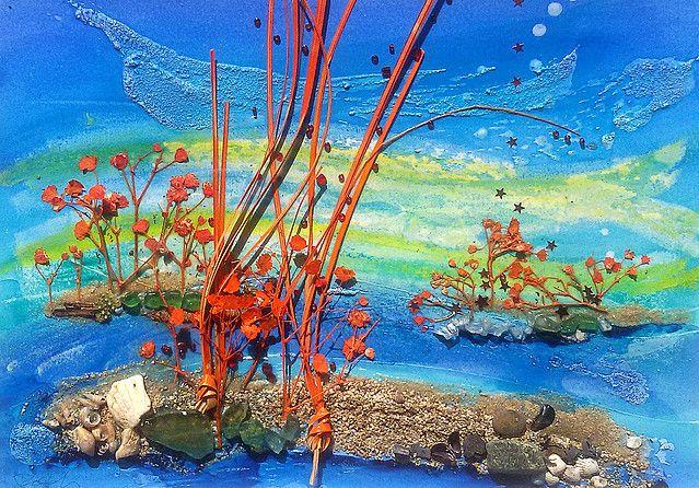 Roberta Cologni |  Movimento con corallo rosso cm 42x52