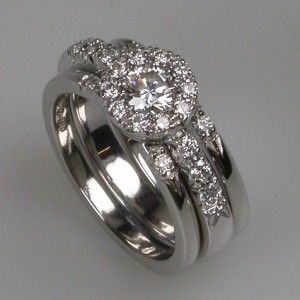 Diamond Custom Wedding Bands Bespoke Fit Rings Platinum Click For Ger
