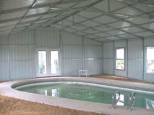 steel building swimming pool enclosure beach house pinterest la piscine bienvenue et piscines. Black Bedroom Furniture Sets. Home Design Ideas