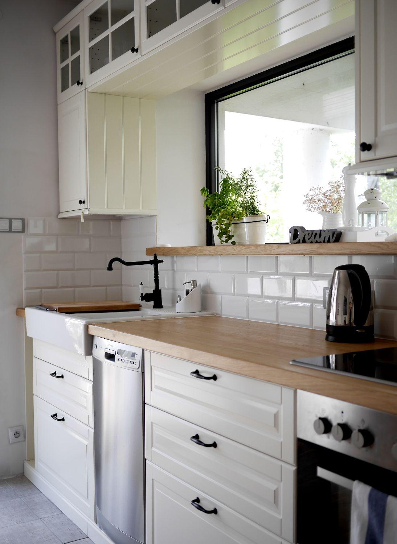 Znalezione Obrazy Dla Zapytania Ikea Kuchnia Bodbyn Biala Kuchnia