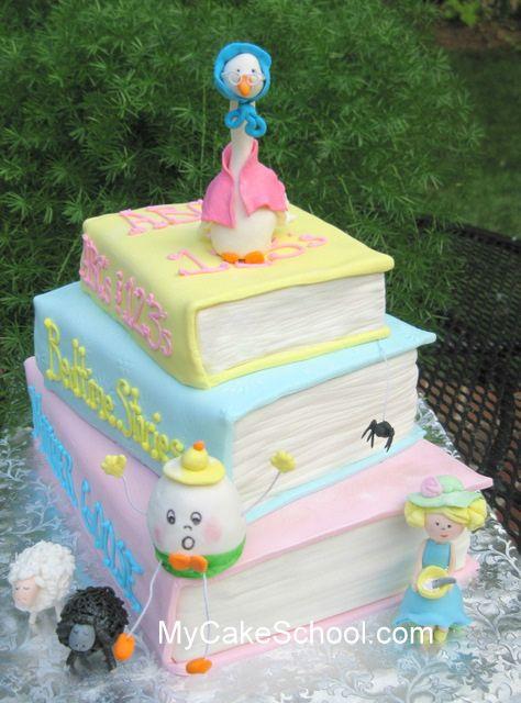Mother Goose Baby Shower Cake By Mycakeschool Com Via Flickr