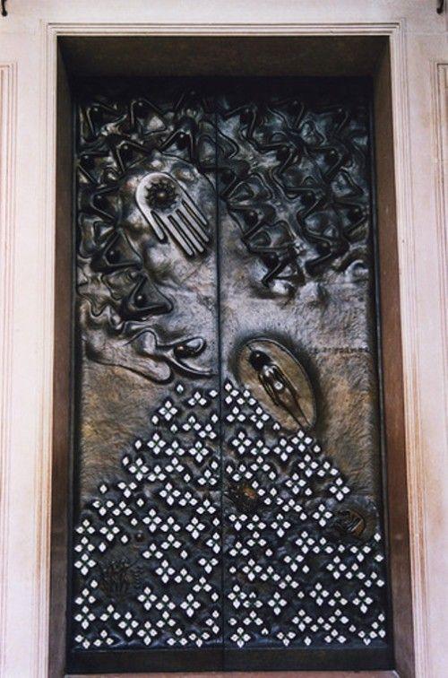 Door 'Hope',bronze door of the Salzburger Dom