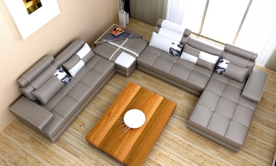 en vogue muebles sillones cuero gris mesas de vidrio sofs seccionales de cuero sofs seccionales modernos modulares de cuero blanco