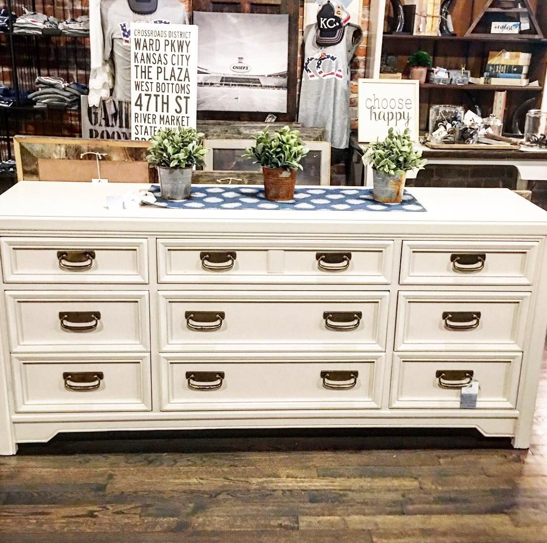 9 Drawer Dresser painted with Amy Howard One Step paint in