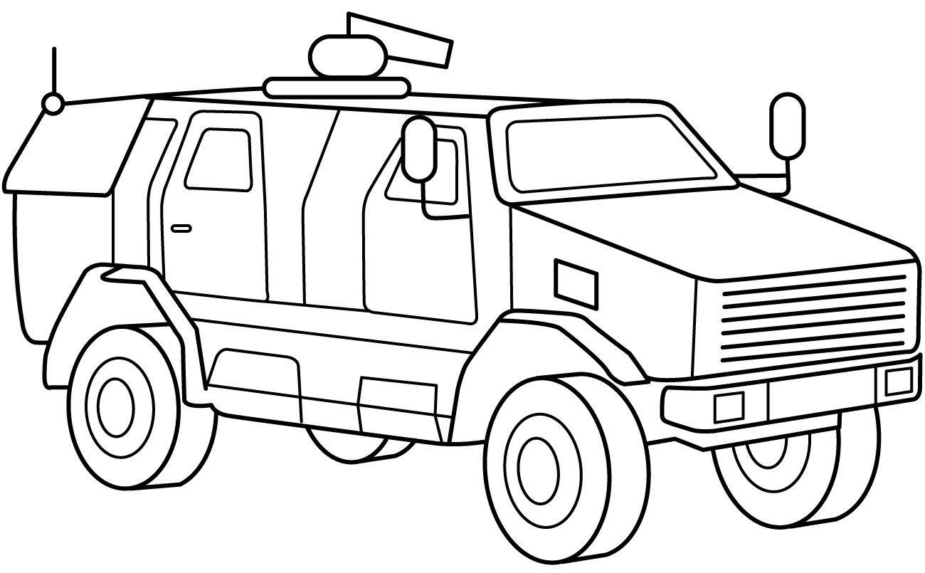 Gambar Mobil Polisi Kartun Hitam Putih Mobil Polisi Kendaraan Kendaraan Militer