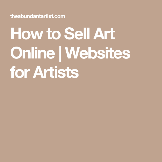How to Sell Art Online | Websites for Artists