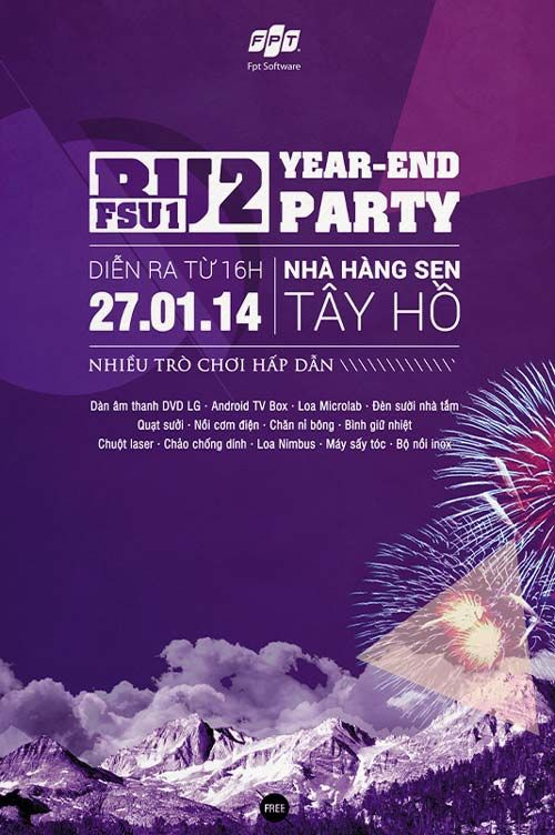 Year End Party Free PSD Flyer Template -    freepsdflyer - harmony flyer template
